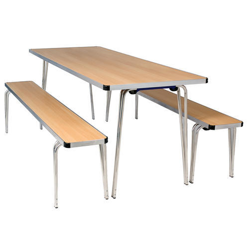 Silver And Black School Dining Table