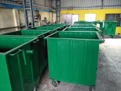 Green Mild Steel Industrial Dustbin, Rs 12500 /piece Tech Weld Engineering  | ID: 19789493388