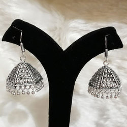 Oxidized German Silver Jhumka