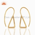 Handmade Gold Plated Silver Earring