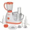 Blissful Saffron And White Maharaja Whiteline 600 Watt 1 Jar Glamour Food Processor