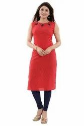 Sleeeveless Cotton Kurti