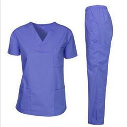 Unisex Polyester Cotton Medical Scrub Set