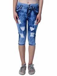 Women Ripped 's Jeans - Capris