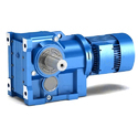 Right Angled Helical Worm Geared Motor