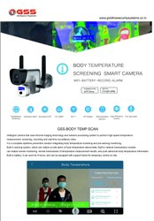 Camera For Body Temperature Checking And Measurement By Thermal Scanning Of Face