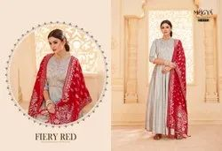 Heavy Embroidered Suit with Dupatta
