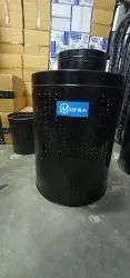 SS Black Coating Dustbin With Stand