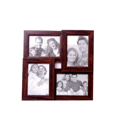 Wooden Brown Collage Photo Frame