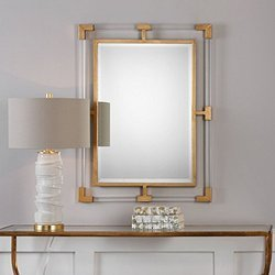 Aysha Glass Acrylic Wall Mirror, Shape: Rectangle
