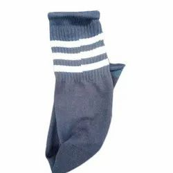 Hottly Cotton Mens Blue Knitted Socks