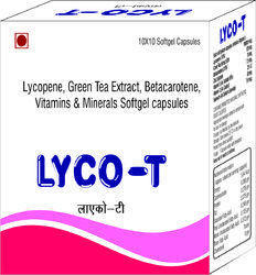 Lycopene Green Tea Extract Betacarotene Vitamins and Minerals Softgel Capsules
