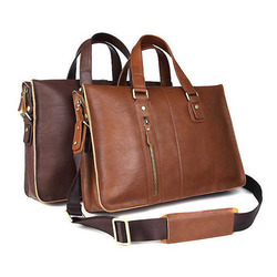 Leather Brown Office Laptop Bag