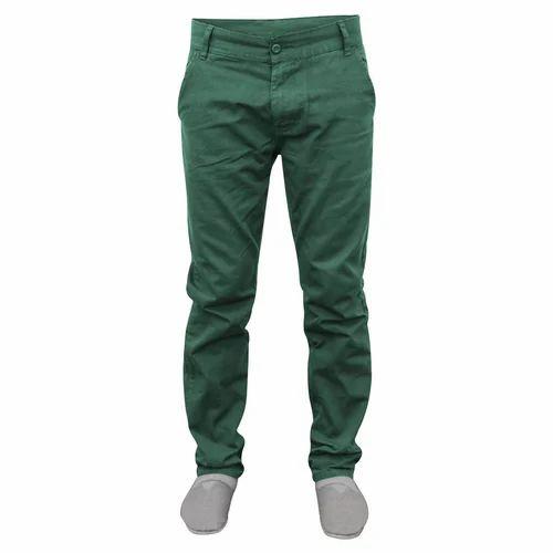3433967454 Men's Cotton Green Plain Pant, Size: 28-38, Rs 300 /piece | ID ...
