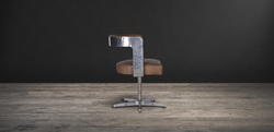 Aviator Chair With Leather Seat