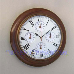 Vintage wooden World clock