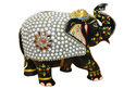 Multi Colour Wood Wooden Elephant Stone Work, Size (inches): 4 Inchs, Size/dimension: 4 Ichs