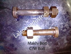 Steel,Iron Black C/W Bolt (Makhi Bolt)