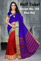 Plain With Lining Shade Poly Cotton Silk Saree