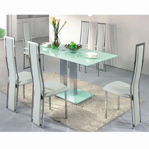 Glass Dining Table Set At Rs 115 Square Feet Glass Dining Set Id 13571041288