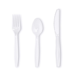 Food Grade Plastic White Fork Spoon For Home