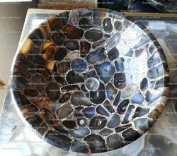 Black Agate Wash Basin, Model Name/Number: DGM-0098