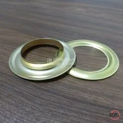 33mm Brass Eyelets & Washers Golden
