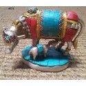 Antique Brass Nandi Statue