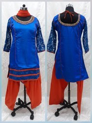 Silk Stitched Punjabi Style Festival Wear Suits