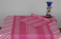 Table Cloth Pink And White