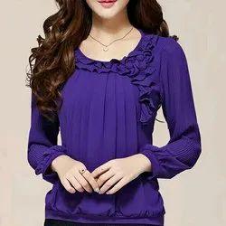 Full Sleeves Purple Ladies Top