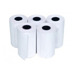 White Plain Thermal Paper Rolls, 58 GSM