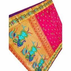 6.20 M Festive Wear Fancy Matka Broket Paithani Saree, With Blouse Piece, Machine Made