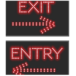 Acrylic Animation Entry Exit LED Display, For Industrial, Bold