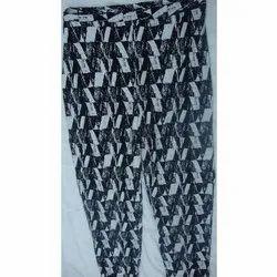 Printed Ladies Hoseiry Pencil Pants, Waist Size: 28-32