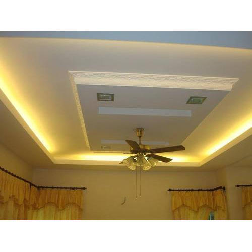 White Gypsum False Ceiling Board Thickness 12 Mm Rs 60 Feet Id 15306755997