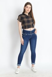 ZXN Clothing Women Premium Stretchable Slim Fit Rugged Blue Denim Jeans