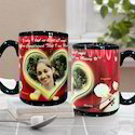 Personalized Full Black Photo Mug