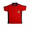 Meghdoot Summer Red Uniform T Shirt, For School