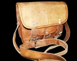 Buckle Closure Leather Saddle Bag