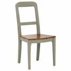 Grey Wooden Chair, No Of Legs: 4 Leg