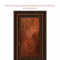 Contemporary Brass  Doors