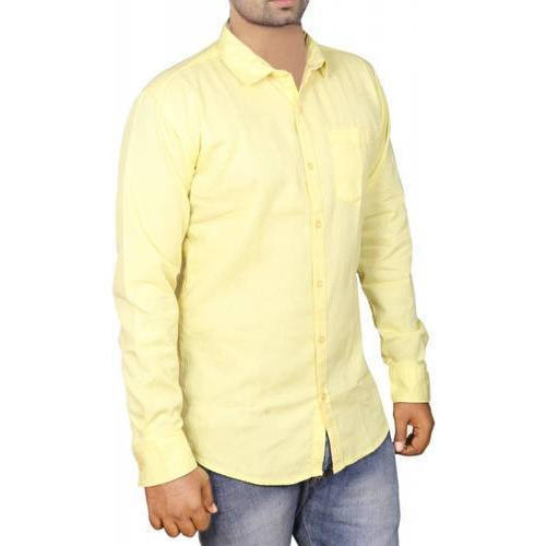 26e6951a4 L And XL Full Sleeve Mens Cotton Linen Plain Shirt