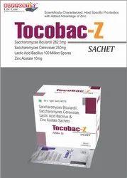 Saccharomycin Boulardii 282.50mg  Saccharomycin cerevisiae 250mg  Lactic Acid Bacillus 100ms  Zin