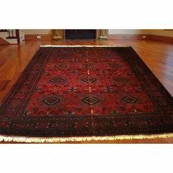 Rectangular Multicolor Handmade Kashmiri Silk Room Rug, for Floor