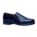 Men Black Leather Slip On Formal Shoes