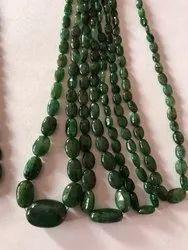 Natural Emerald Ovals Beads