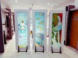 Swing Indoor FRP Decorative Art Panel Door
