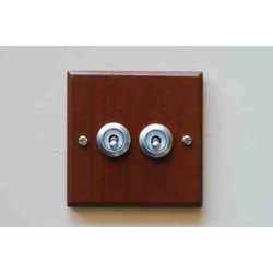 Flush Antique Style Satin Chrome Switches