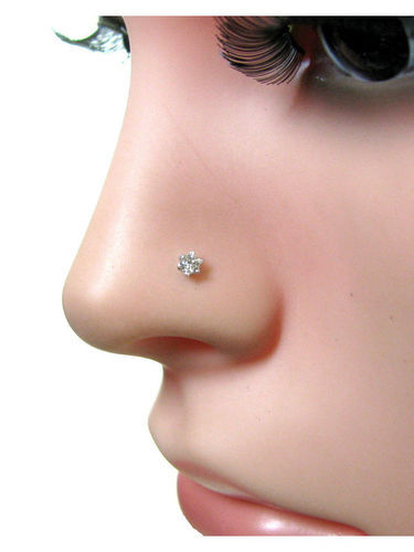 Karizma Jewels Golden 2 8mm Real Diamond Engagement 18k Gold Nose
